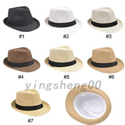 Fedora Travel Hats Crushable Straw Panama Style Sun Hat Beach Hat for Men/Ladies