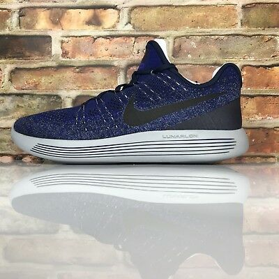 new style 00ba3 932d5 Nike Lunarepic Bas Flyknit 2 Hommes Taille 12 Chaussures Course Collège  Marine
