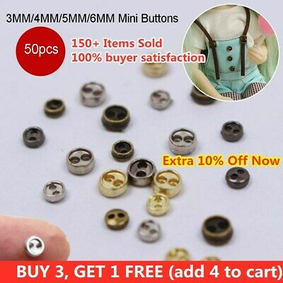 50pcs/lot Mini Tiny Micro Doll Buttons for BJD Blyth Doll Clothes Accessory