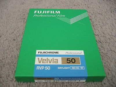 FUJI Fujifilm 4x5 VELVIA 50 - 20 sheet sealed box FREEZER STORED exp 2019 - 4