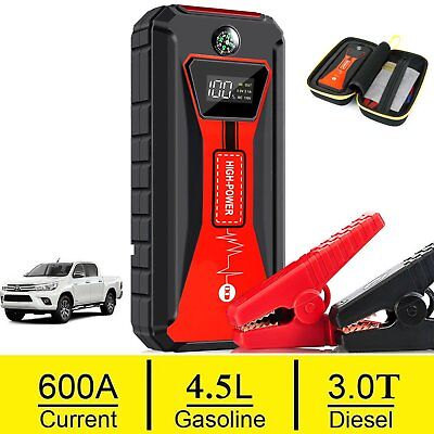 Heavy Duty 600A Emergency Jump Starter Battery Car Power Bank Charger Booster