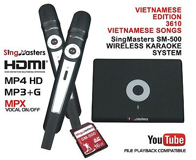 VIETNAMESE KARAOKE MACHINE,SingMasters Magic Sing,3610+ Vietnamese Song,Wireless