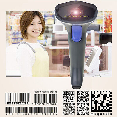 AU Ship 2.4G USB Wireless Portable Laser Barcode Scanner Bar Code Reader POS PC