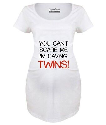 6a5072c7 Pregnancy Shirts Maternity T shirts Top Tunic Clothes Having Twins  Announcement