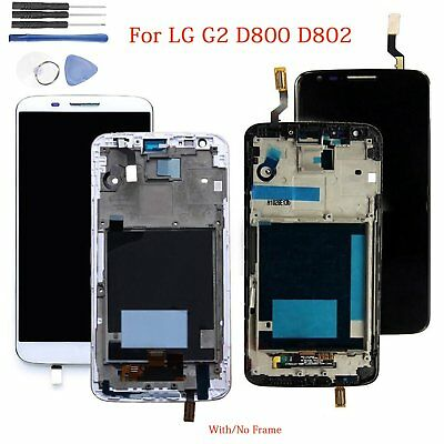 LCD Display Touch Screen Digitizer Glass Assembly for LG G2 D800 D802 + Frame