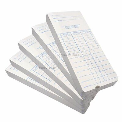 250 Pcs Weekly Payroll Cards For Employee Time Attendance Bundy Clock Recorder