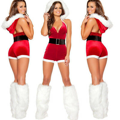 New Ladies Mrs Santa Claus Outfit Xmas Sexy Costume Adults Christmas Fancy Dress