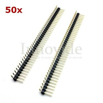 4x Connettori Strip Line Maschio 1x40 Poli Lunghi L=13mm Header Single Row