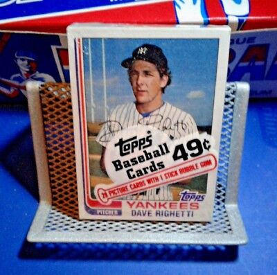 Topps Unopened Baseball Cello Pack - Yankees - Dave Righetti - Free Shipping