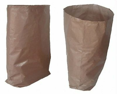 Paper Bio Garbage Sacks Papiersäcke 60l 550x850+200mm 2-lagig Strong Brown Bag