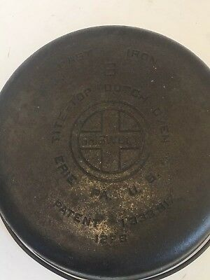 Vintage Griswold #8 Tite-Top Cast Iron Dutch Oven 1278  Large Logo NO LID