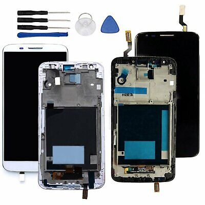 DISPLAY LCD + TOUCH SCREEN SCHERMO + FRAME Per LG G2 D800 D802 Nero/Bianca Nuovo