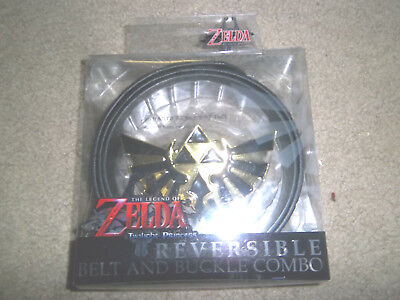 The Legend of Zelda Twilight Princess Triforce Reversible Belt & Buckle Combo