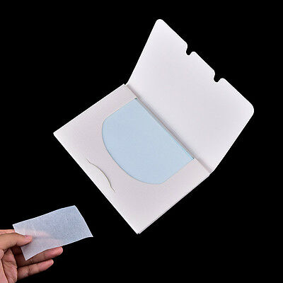 100 Sheets Make Up Oil Control Oil-Absorbing Blotting Facial Face Cleaner PapePD