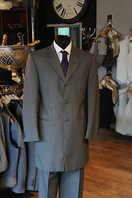 Mj-129B Mens / Boys Grey Pinstripe Two Piece Wedding Formal Suit Event Sale