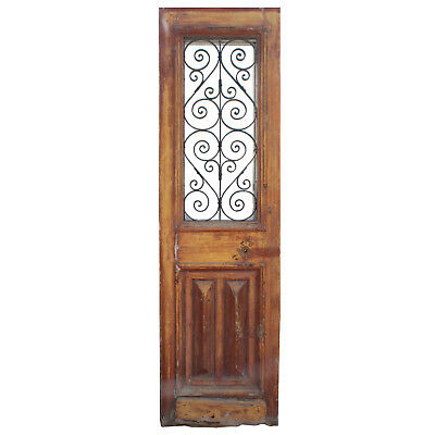 "Salvaged 28"" French Colonial Door with Iron Insert, NED842"
