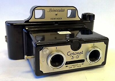 "Vintage Coronet ""3-D"" Binocular Viewfinder Stereo Camera 