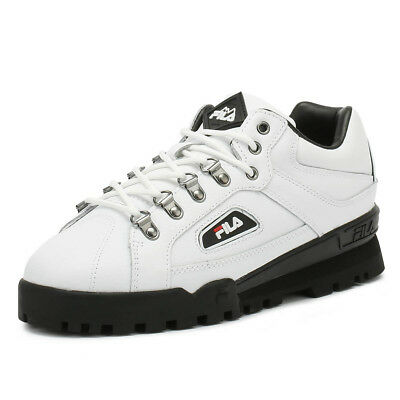 0b51c26a67119 FILA UNISEX TRAINERS White Trailblazer Lace Up Casual Sport Shoes