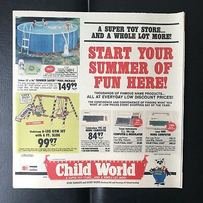 May 1983 vintage Child World advertising circular The Record NJ TI 99/4A