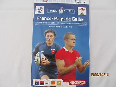 RBS 6 NATIONS FRANCE v WALES 27/02/2009 PROGRAMME + Event Tickets