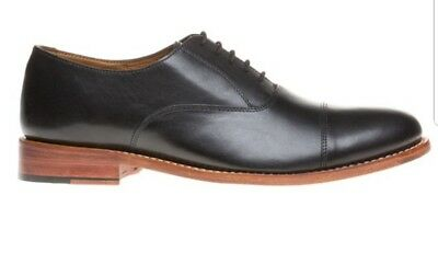 Mens Hardy Amies Black Toe Cap Formal Leather Shoes Lace Up Size UK 8