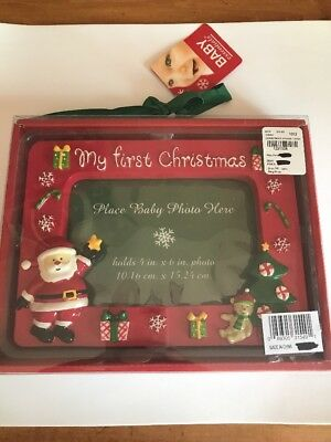 Babys First Christmas Picture Frame New In Box