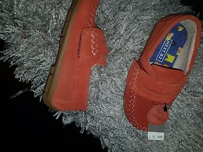 Boys NEXT red Suede Penny Loafer Shoes Size 9 eu size 26.5 rrp £27 3e3b4a855a49