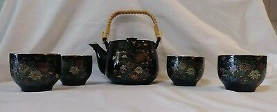 5 PCS. Japanese Tea Pot & Cups Set  Authentic Made in Japan