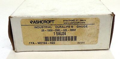 ASHCROFT 35-1009-SWL-02L-300# DURALIFE 0-300PSI 1//4IN GAUGE NEW This is for 2.
