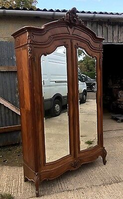 Antique Walnut French Louis Armoire