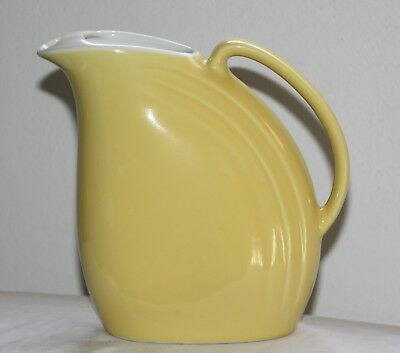 Vintage HALL China Yellow Nora Pitcher with Ice Lip