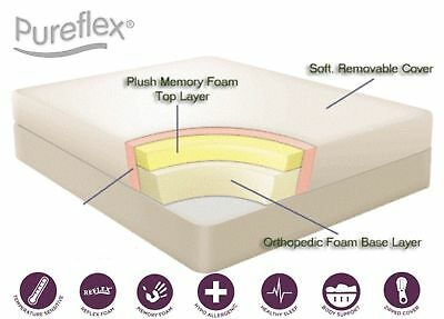 "9"" White reflex foam orthopaedic mattress - all sizes 6"" 8"" 10"" 12"""