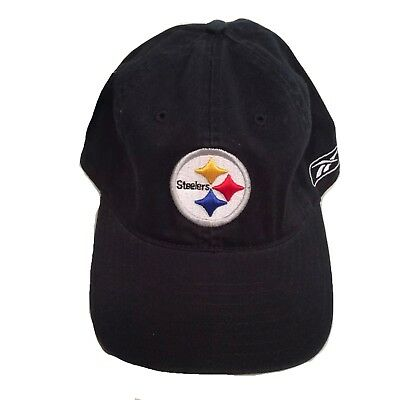 ddb8721655d PITTSBURGH STEELERS NFL Black w  Logo Slouch Hat Cap Relaxed Fit ...