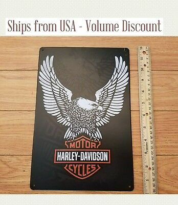 Harley Sign Metal Harley Davidson Sign Eagle Harley Motorcycle Sign Harley Tin
