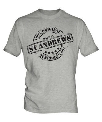 Made In St Andrews Mens T-Shirt Gift Christmas Birthday 18Th 30Th 40Th 50Th 60Th