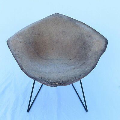 Rare Early Bertoia Diamond Chair Wire HK Knoll Mid Century Modern 50s All Orig.
