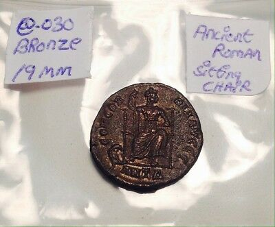 Ancient Bronze 19mm Sitting In A Chair On Reverse Super High Quality Scarce