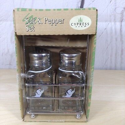 Cypress Home Salt Pepper Shakers Set Glass