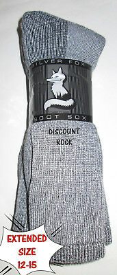 3 Pairs EXTENDED Size 12-15 Mens Cabelas 65% MERINO Wool Over Calf Thermal Socks