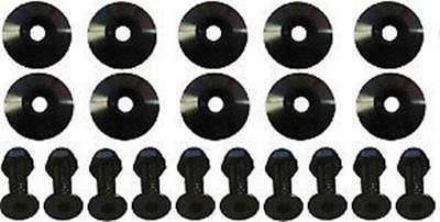 "Black Body 1in Washers with flush head bolts Recessed 1"" 10 pack"
