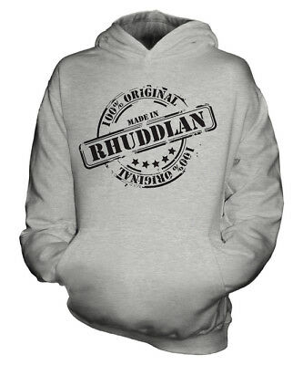 Made In Rhuddlan Unisex Kids Hoodie Boys Girls Children Toddler Gift Christmas