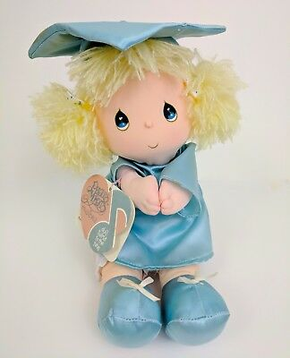 "1987 Precious Moments Musicals Twirling Vintage Blue Doll Sally 8"" Applause"