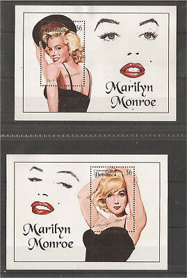 Commonwealth of Dominica. Marilyn Monroe Sheets