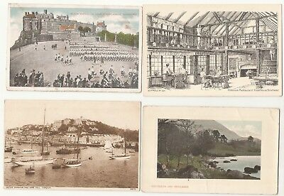 England postcards. multiple locations. 15 cards . All printed cards