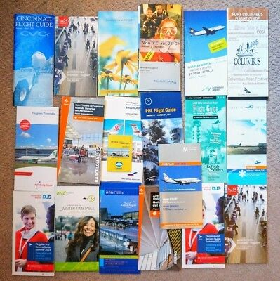 19x AIRPORT TIMETABLES from USA & Europe Flight Schedules Airline Timetables New