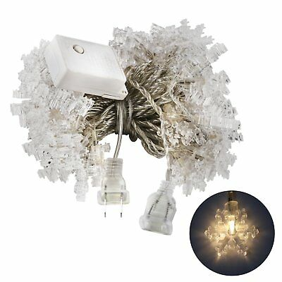 Accmor Led String Lts for Indoor Outdoor, UL-Listed Snow flake Fairy Lights 33'