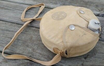 Vintage 1960's Official BOY SCOUT CANTEEN w/Official CANVAS Carry CASE & STRAP