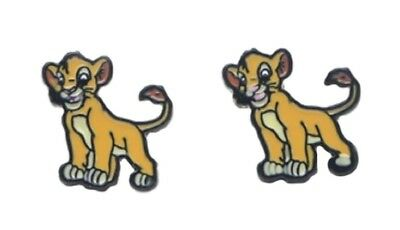 Disney's The Lion King Simba Metal Enamel Filled Stud Earrings