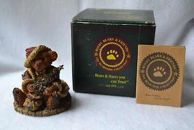 "Boyds Bears ""the Bearstone Collection"" Grenville The Santabear Resin Figurine"