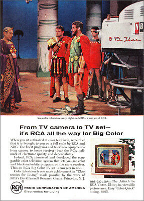 1961 RCA: From TV Camera to TV Set, NBC Vintage Print Ad